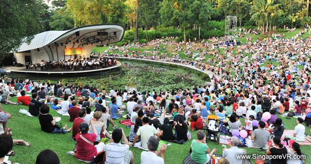 Free SSO concert at Botanic Gardens (Photo: Singapore VR)