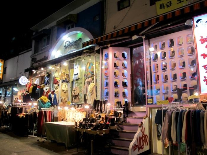 More street shopping but in Hongdae!