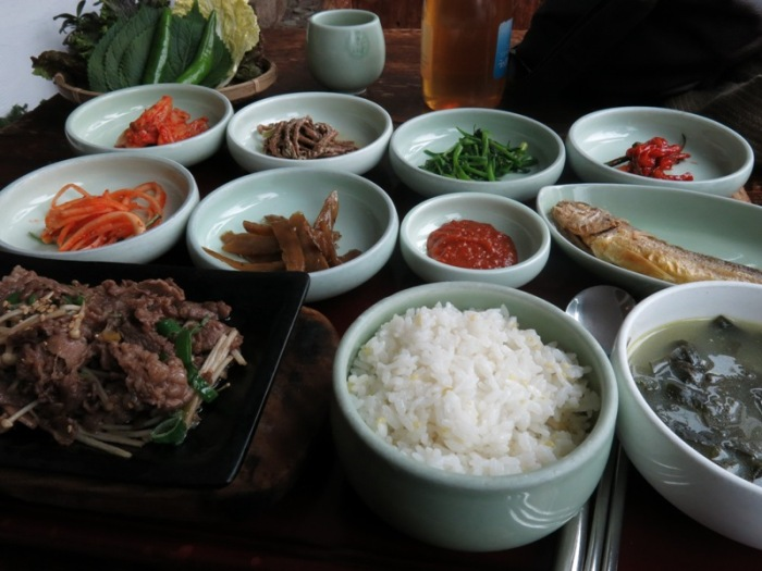 vegetables and meat in seoul