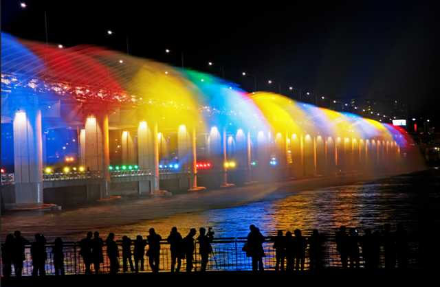 rainbow bridge, seoul